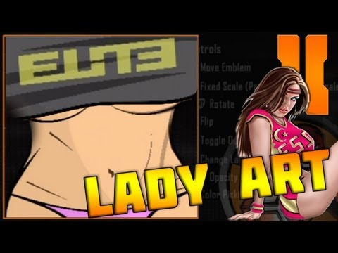 Black Ops 2 - Epic Lady Art Emblem Tutorial