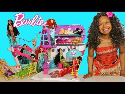 huge-barbie-cruise-ship-for-disney-princesses-!-  -toy-review-  -konas2002