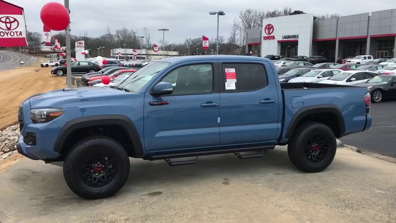 Tacoma Cavalry Blue >> Dawn's 2018 Toyota Tacoma TRD Pro in Cavalry Blue by Gerald M5064 - YouTube