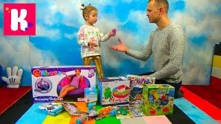 Посылка с игрушками Доктор Плюшева фашемс и шарики животные Орбиз Box with toys animals Orbeez