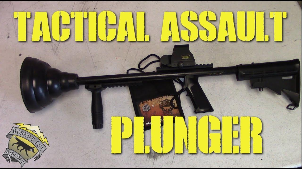 desertfox airsoft ss airsoft tactical assault plunger plunger kills youtube. Black Bedroom Furniture Sets. Home Design Ideas
