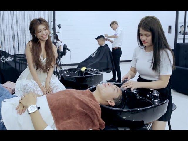 30Shine TV Phim Hài   Đi cắt tóc cùng cô vợ GHEN và cái kết bất ngờ   Ghiền Mì Gõ (Pinky, Bi Max)