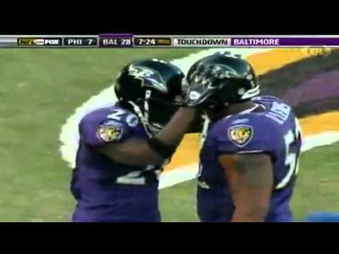 Ed Reed picks off Kevin Kolb in the endzone and takes it 108 yards for a touchdown