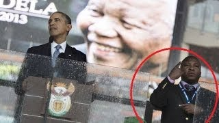 Repeat youtube video Proof Mandela Ceremony Interpreter Was  'Fake'