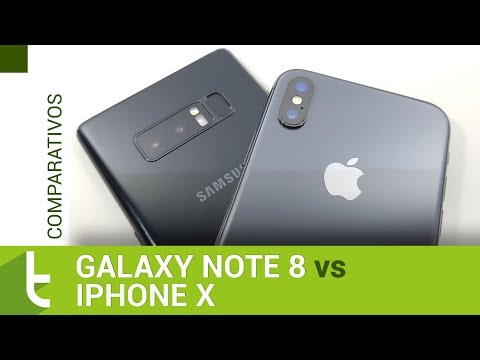 Galaxy Note 8 vs iPhone X | Comparativo do TudoCelular.com