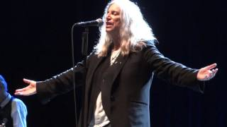 Patti Smith-Land Horses+Gloria-Live @ Olympia-21-10-2015