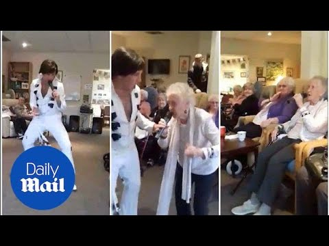 Touching Moment Gryating Gran Upstages Elvis Impersonator - Daily Mail