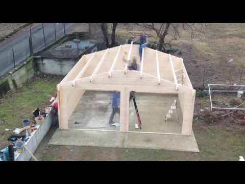 come montare un garage in legno doppio youtube