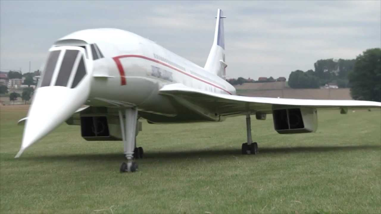 Plane Kaufen A Huge Concorde Rc Plane Powered By Two Turbines