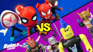 Roblox Rocks vs Spider-Man and the Web-Warriors // RUMBLE LEAGUE by KidCity
