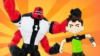 Видео про игрушки. Супергерой Бен 10 против робота Стима Смита!