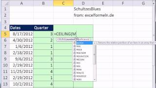 Excel Magic Trick 872: Calculate Quarters From Date:3 Methods