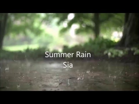 Summer Rain Lyrics-Sia