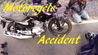 Motorcycle Crash, Outsite The Southview Hotel, Skegness, Lincolshire.