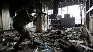 Эксклюзив ближний бой ДНР штурмует новый терминал 11 12 Донецк War in Ukraine