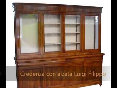 Credenza Con Alzata : Libreria cristlliera credenza con alzata 4 ante intarsiata a mano