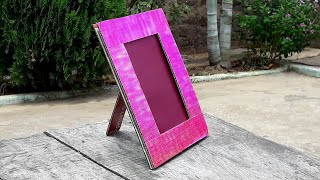 How to make a photo frame at home with cardboard Video