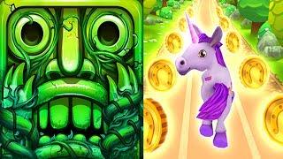 Temple Run 2 Lost Jungle VS Unicorn Runner 3D Android iPad iOS Gameplay HD