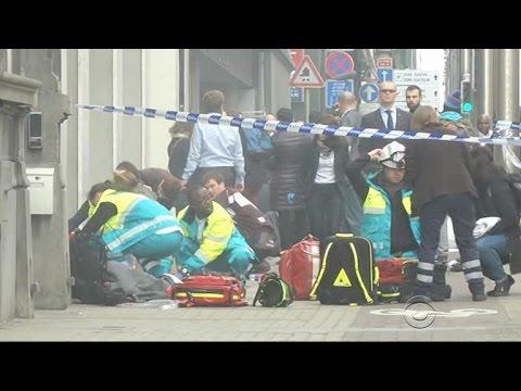 Targeted subway station near European Parliament building