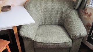 Ремонт мягкой мебели своими руками за 5 мин.(Первый опыт ремонта мягкой мебели.Мебель родом из ГДР, возраст больше 20 лет- теперь раритет.Ткань рогожка.За..., 2016-01-30T19:29:20.000Z)