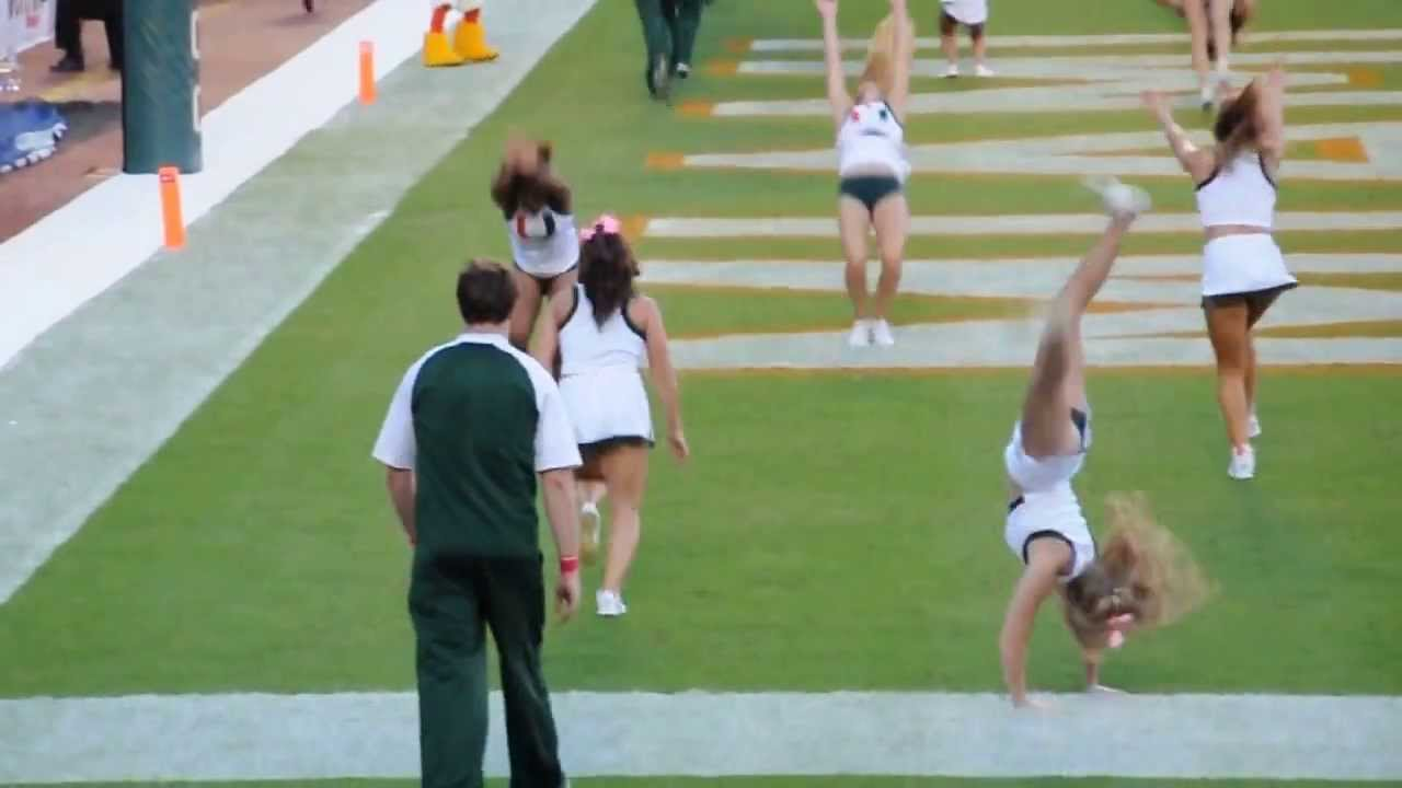 University of Miami Cheer tumbling TD - YouTube