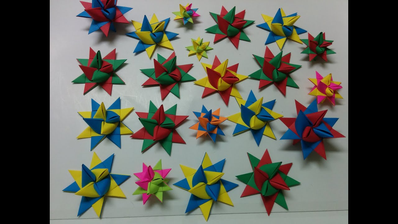Art And Craft: How To Make Origami Star/paper Star   YouTube