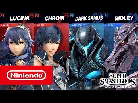 Super Smash Bros. Ultimate – Dark Samus and Chrom gameplay (2 on 2, Stage Morph)