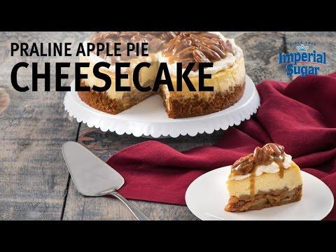 How to Make Praline Apple Pie Cheesecake