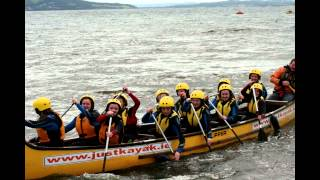 crana college transition year kayaking on lough swilly