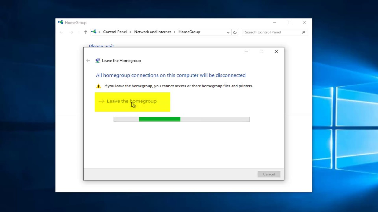 How To Leave Homegroup In Windows 10 - YouTube