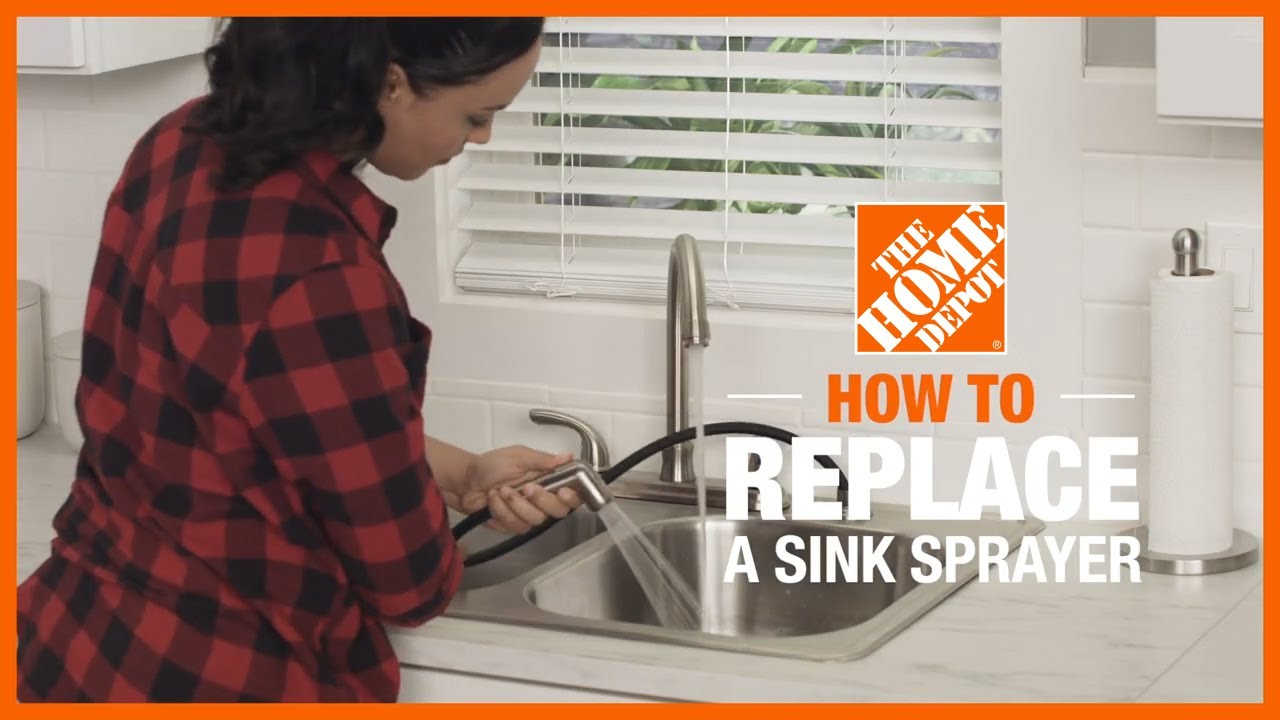 How To Replace A Sink Sprayer The Home Depot