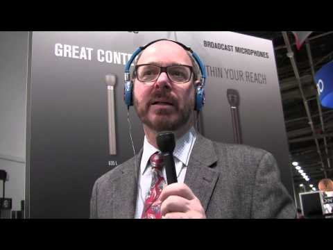 Interview mic comparison- ElectroVoice booth at trade-show