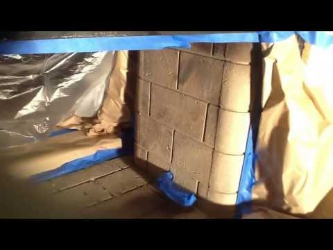 Gas log or wood burning Fireplace to Fire Glass Conversion Part 1