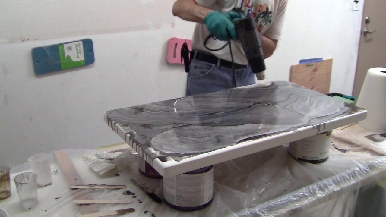 Stone Coat Countertops DIYers 1st Epoxy Job using White & Brass Marble Epoxy Kit