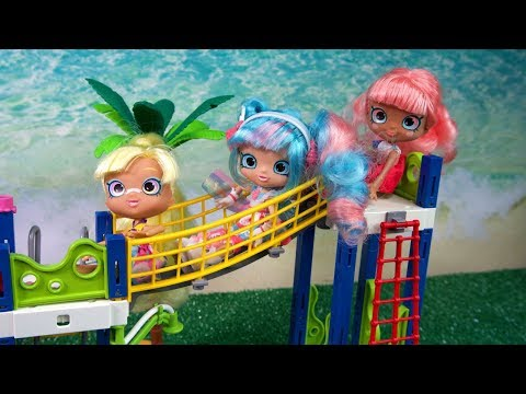 Shopkin Shoppies Go Swimming At Play Mobile Water Park!