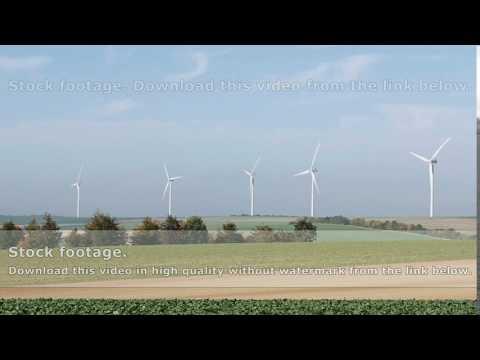 Wind turbines renewable energy generation