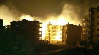 غارات روسية على أحياء مدينة إدلب بقنابل فوسفورية
