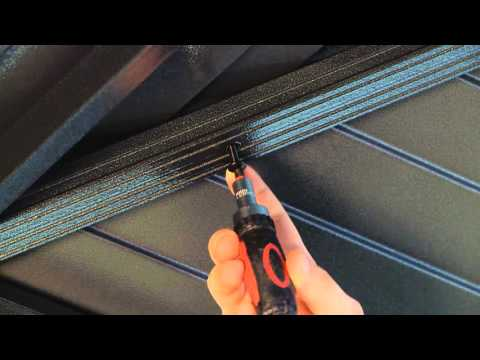 Mykonos Sun Shelter roof panel installation tip