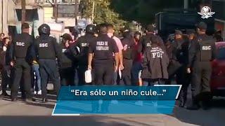 """""""Era un niño""""; familiares lloran a presunto ladrón abatido por policías en Iztapalapa"""