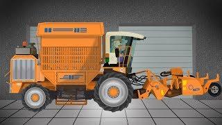 Orange Color Sugar Beet harvesting Machine* | Maszyny Rolnicze, Do zbioru Buraków Bajka