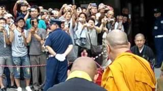 The Eminence Dalai Lama  ダライ・ラマ法王猊下 善光寺入場 thumbnail