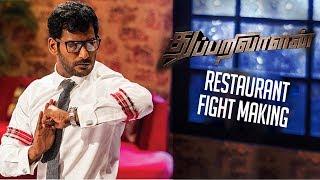 Thupparivaalan Restaurant Fight Making | Vishal, Prasanna, Vinay, Anu Emmanuel, Andrea Jeremiah