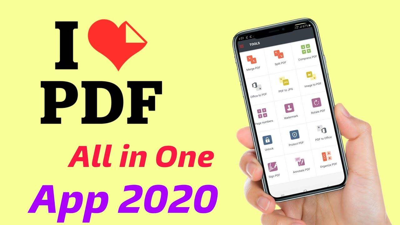 How To Use I Love Pdf App 2020 Best File Converter Android Application 2020 Pdf Converter App Youtube