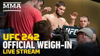 UFC 242 Official Weigh-in Live Stream - MMA Fighting