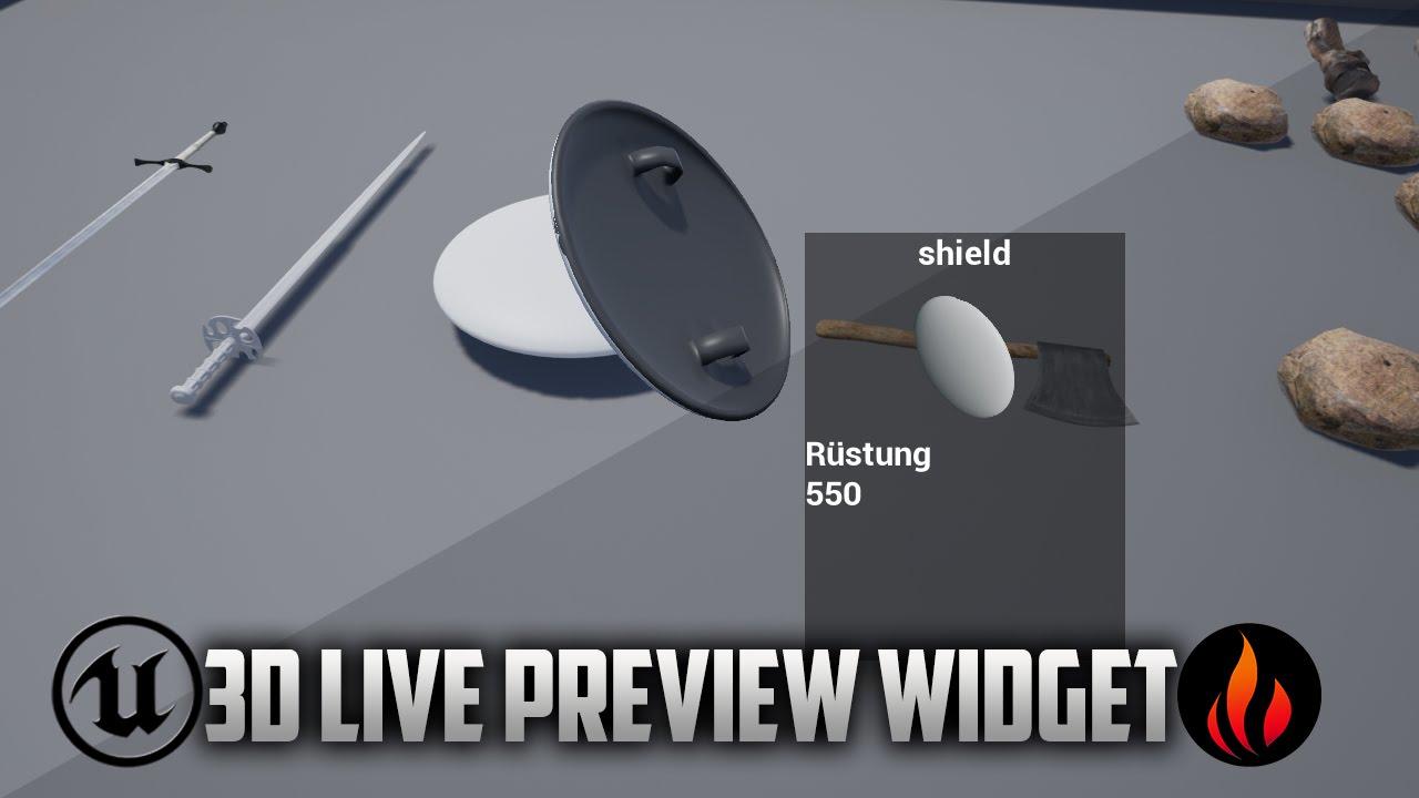 Unreal Engine 4 - 3D Item Preview Widget - Part 1