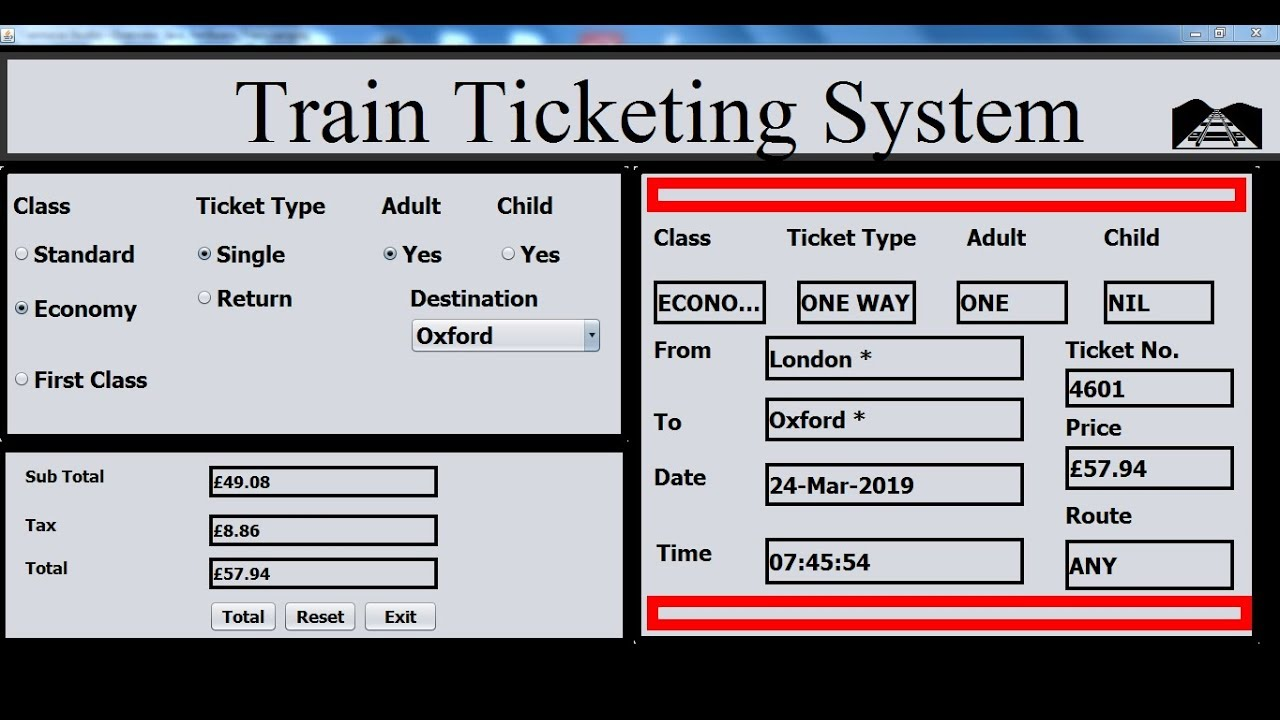Overview of How to Create Train Ticketing System in Java NetBeans