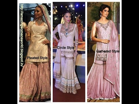 How to draft, Cut and Stitch GHARARA -   3 STYLES ( PLEATED, CIRCLE, GATHERED) Complete Tutorial