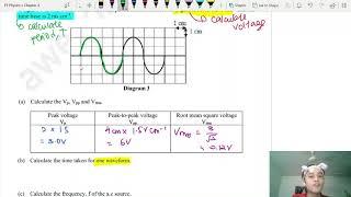 SPM Form 5 Physics 4.1 Cathode-Ray Oscilloscope (Sketch & Calculations)