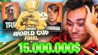 REACCIONANDO a la WORLD CUP EN SOLITARIO de Fortnite *$15.000.000* - TheGrefg