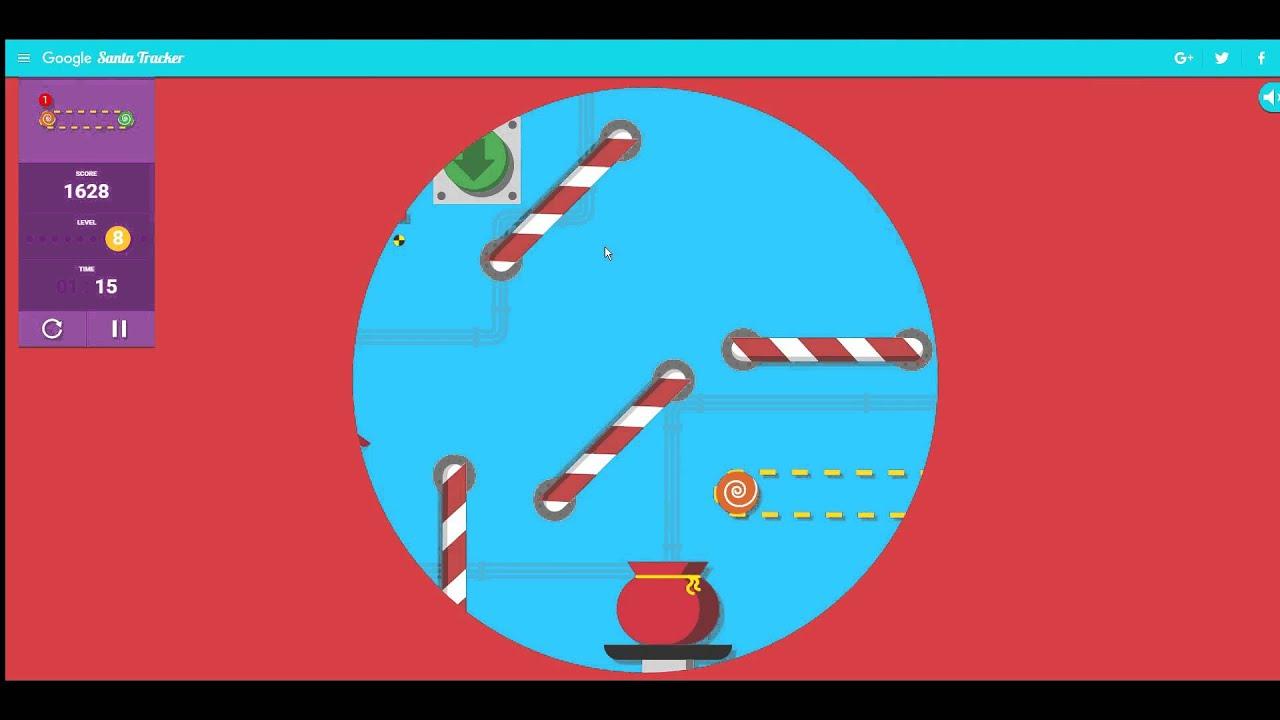 google santa tracker present bounce first time score 2070